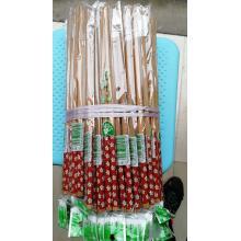 桂凤 天然单双竹制筷子 套花筷子 100双装 颜色随机