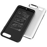 飞毛腿 BJ006P 苹果背夹电池 自带美颜灯 苹果保护壳 移动电源 适用于5.5英寸iPhone6P/6SP 6700毫安 白色 RFID 背夹