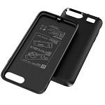 飞毛腿 BJ007 苹果背夹电池 自带美颜灯 保护壳 充电宝 移动电源 适用于4.7英寸iPhone7/8 4000毫安 黑色 RFID 背夹