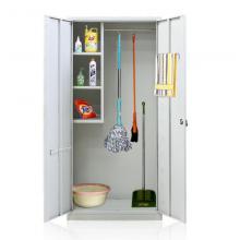 华瑞 211 清洁柜冷轧刚家用保洁拖把收纳柜卫生清洁用柜扫0.7厚 白色 1800*850*400