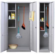 无忧 SCQJ012-13 清洁柜冷轧刚家用保洁拖把收纳柜卫生清洁用柜扫0.7厚 白色 1800*420*400