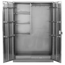 健威 BXG-QJG883 清洁柜不锈钢304家用保洁拖把收纳柜卫生清洁用柜扫 白色 1800*900*400