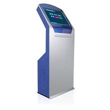 得丽珑 17/19/22英寸立式触摸屏查询一体机 落地广告机一体机电脑 排队叫号机 蓝+银 19英寸-双核1.8G/2G内存/32G固态 排队机