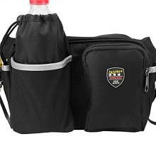 ARSMUNDI  多功能维修电工小腰包帆布包 劳保耐磨安装工具包 XL 黑色(有反光条)