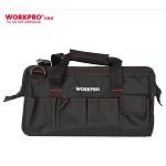 万克宝(WORKPRO)W081033N 加厚耐磨多功能电工维修工具包大号 单肩五金牛津布工具袋16寸