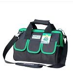 老A(LAOA)LA212819 绿黑色牛津布多功能工具包 加厚工具袋 收纳包 维修包 电工包 14英寸 收纳箱/盒/袋