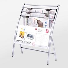 欧林(ONLEAD)报架采 用优质冷轧钢管 壁厚2.0mm 银色 635*270*820