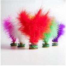 蜗牛小姐 火鸡全绒毽子彩色羽毛比赛毽球 牛筋底 共六种颜色 6只装