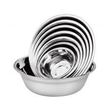 桂凤 圆形加厚不锈钢汤盆 直径20cm 深6cm