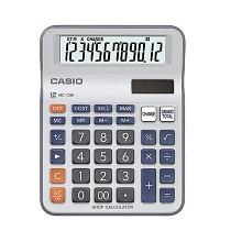 卡西欧(CASIO)MC-12M 小号太阳能计算器 算术型计算器