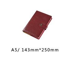 博文(bowen) 25176 A5 商务文具鸡眼扣笔记本 厚本记事本  棕色