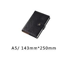 博文(bowen)25176  A5商务文具鸡眼扣笔记本 厚本记事本 黑色