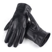 雅寒(yahan)mst-012 男士纯羊皮加绒防寒保暖手套 黑色 尺码备注