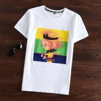 BEKLADA 圆领印花棉质短袖T恤 尺码165—190 白色 尺码款式下单请备注