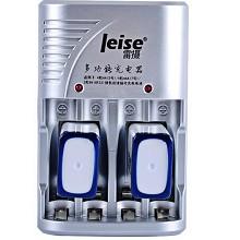 雷摄(LEISE)802 多功能充电套装(配2节280毫安9V充电电池+四槽多功能充电器)适用万用表/玩具遥控器
