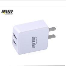 雷摄(LEISE)HKL-USB3120 双口USB插头5V/2A 苹果手机充电头安卓手机充电头支持iphone6/6s/7/7Plus小米 白色