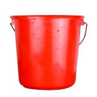 安全(AQ)红色塑料桶清洁桶带盖拎手 口径35cm 红色