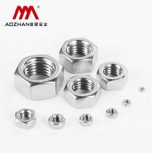 奥展实业(AOZHAN)DIN934-304 不锈钢六角螺母 螺帽螺丝帽 M10(100支/小盒)