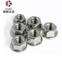 腾楠(TENGNAN)DIN6923-304不锈钢六角法兰螺母 不锈钢六角防滑防松螺帽 M3(10支/盒)