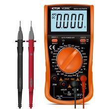 胜利仪器(VICTOR)VC890C+ 2万电容 多功能 防烧 数字万用表 电工万能表 带测温