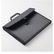 齐心(COMIX)F4302 A4多层手提式风琴包文件夹12格 颜色随机