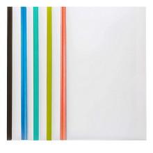 齐心(COMIX)A856 A4彩色抽杆夹文件夹拉杆夹 颜色随机 5个/包