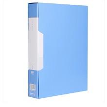 齐心(COMIX)PF80AK-1 A4大容量资料册文件册文件夹80页配外壳 颜色随机