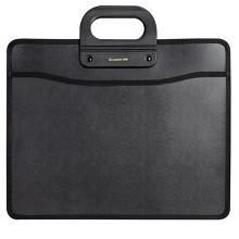 齐心(COMIX)A1332 A4移动办公事务包公文包手提包 黑色