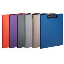 齐心(COMIX)A723 美石系列A4双折式书写板夹垫板 颜色随机