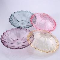 光达(GD)透明水果盘零食糖果盘 塑料直径27cm 颜色随机