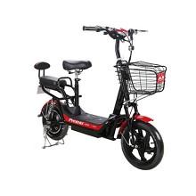 凤凰(Phoenix)速8 迷你踏板成人电动自行车 黑红