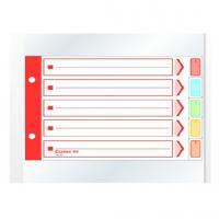 齐心(COMIX)IX105 易分类 五色分类纸 A5 5页 2孔纸质 30本/套 颜色随机 其他功能用纸
