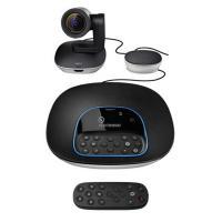罗技(Logitech)CC3500e 视频高清摄像头高端商务电话会议 黑色