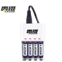 雷摄(LEISE)807 智能快速充电套装(配4节7号950毫安充电电池+4槽充电器)KTV麦克风/玩具/键盘鼠标