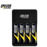 雷摄(LEISE)LS-U401 四槽USB智能充电器套装(配4节5号充电电池+USB充电器)KTV话筒/相机/玩具 黑色