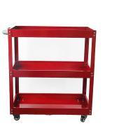 奇人 三层多功能加厚工具车  汽保维修零件搬运车 可承受80公斤 700*350*760cm 红色