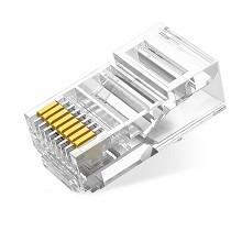 绿联(UGREEN)超5类RJ45网络水晶头 工程级 100个装