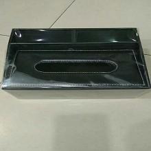 居美 酒店客房家用欧式黑色皮革抽纸盒