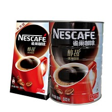 雀巢(Nestle)咖啡醇品 500g/桶+咖啡醇品 500g/袋