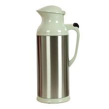 新家园 2L 不锈钢保温壶 家用大容量热水壶玻璃内胆热水瓶保温瓶暖壶 浅绿色鸭嘴2.0L