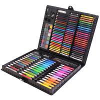 铭塔(MING TA)150件套装绘画笔工具盒 可水洗水彩笔蜡笔美术铅笔