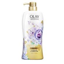 玉兰油(OLAY)无皂基沐浴露少女花漾瓶两件套 蜂蜜700ml+兰花黑加仑香氛700ml(沐浴乳)