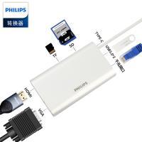 飞利浦(PHILIPS)SWR1608F 扩展坞TYPE-C转HDMI/VGA/PD/TF/SD读卡器拓展集线器
