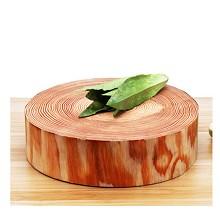 智聪星 加厚实木圆形砧板 厨房肉墩切菜专用 直径45cm厚7.5公分