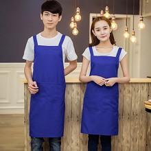 益馨荣 工作服务员厨房围裙 宝石蓝(单围裙无袖套)