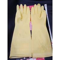 大田 0803 乳胶牛筋手套加长38公分 浅黄色 M号 10双装
