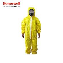 霍尼韦尔(Honeywell)4503000 实验室防尘防化学连体油漆耐酸碱服 黄色 L码 1件装