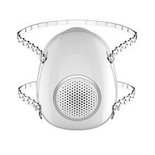 迈盾(MAIDUN)MD302 活性炭防雾霾pm2.5甲醛口罩 电动送风面罩 成人款 珍珠白+滤芯2个