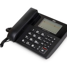 得力(deli)799 座机 数码录音电话机 大屏显示 防雷(黑色)