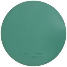 齐心(COMIX)B2264 170mm财务圆形印章垫/橡胶垫/敲章垫/盖章垫 绿色 办公文具